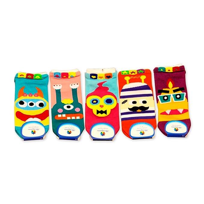 5 pares Funny afanty Vela diseño de mono Elf/cuernos Monster Stuff Elfo – Calcetines