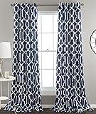 "Lush Décor Edward Trellis 84"" Grommet Top Room Darkening Window Curtain Panel Pair"