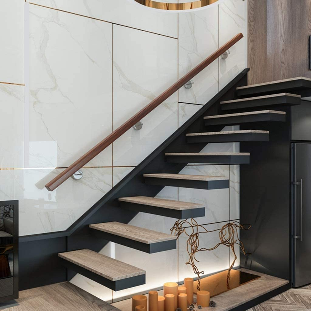Pasamanos Escalera Pasamanos de madera (30cm-600cm) - Kit completo, Varilla de soporte de barandillas de escalera de pasillo, Kit de barra de agarre para ancianos y niños para escaleras de hospital /: