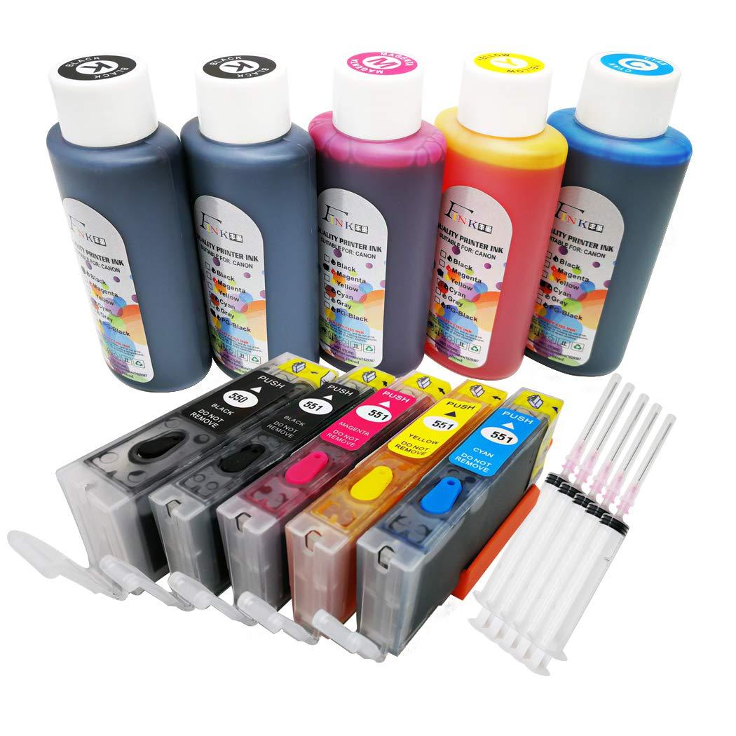 FINK - Cartucho de Tinta Recargable para Impresora PIXMA iP7250 ...