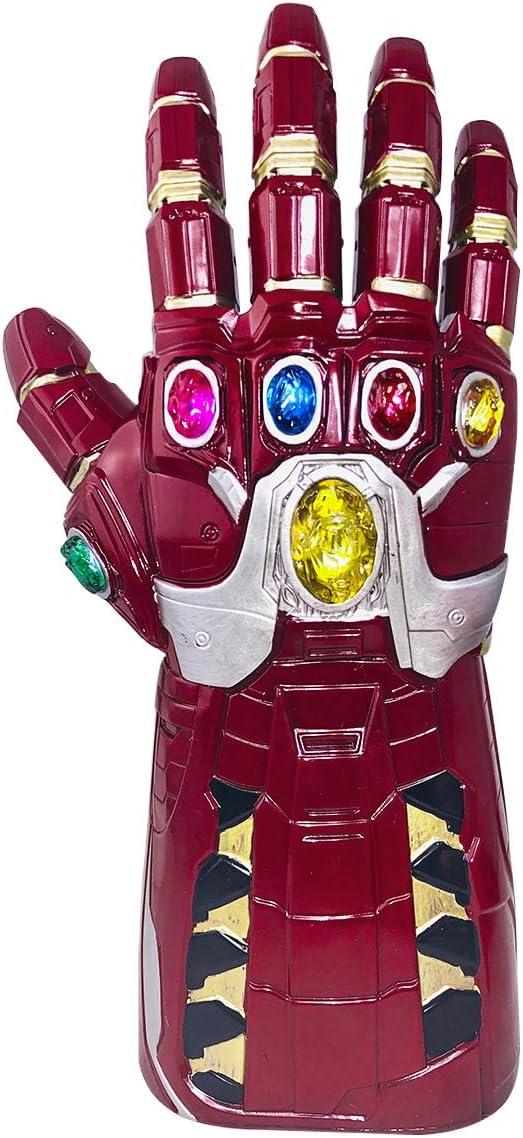 yacn Guantes de Iron Man Infinito guantelete Vengadores LED de luz Grande hasta Navidad Halloween Cosplay Traje de los apoyos Juguetes para Adultos