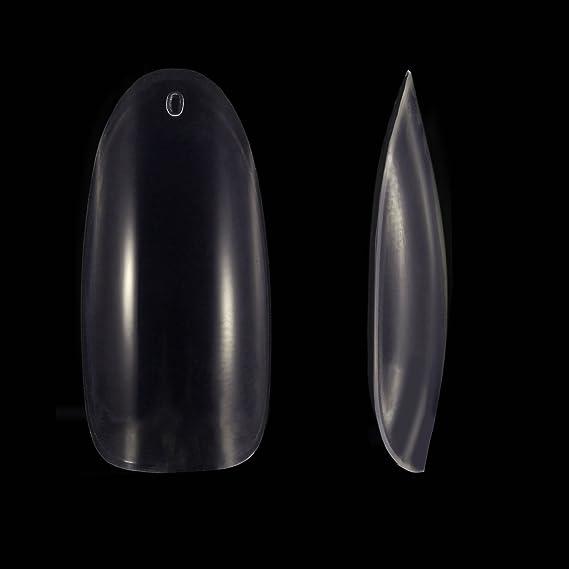 500 Piezas de Punta de Uña Falsa Oval Uñas Postizas de Acrilíco de Cubierta Completa 10 Tamaños con Caja Transparente para Salón de Uñas y DIY Arte de Uñas, ...