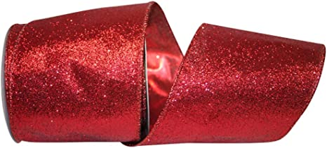 1-1//2-Inch 10 Yards Metallic Lame Christmas Ribbon Wired Edge