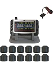 Truck Systems Technology TST 507 Tire Pressure Monitor w/12 Cap Sensors with Color Display