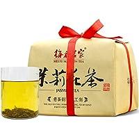 梅府茗家 正宗特级茉莉花茶茶叶 古法纸包250g 买一包送一包共500g