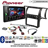 Volunteer Audio Pioneer AVH-201EX Double Din Radio Install Kit with CD Player Bluetooth USB/AUX Fits 2003-2004 Infiniti G35 (Charcoal) (Single zone A/C controls)