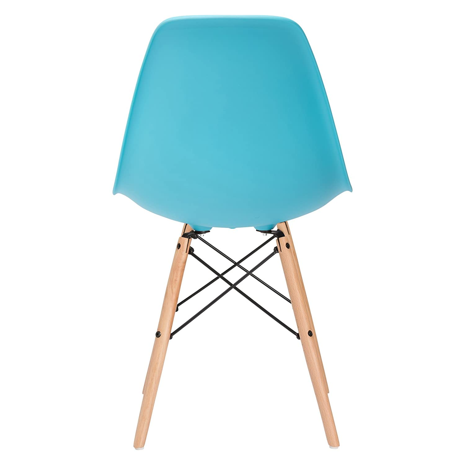 Set of 2 Poly and Bark Vortex Side Chair Teal