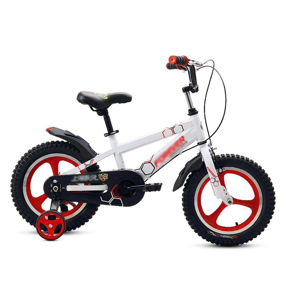 子供用自転車ベビーペダル自転車一輪2-3-4-5-6歳の少年と少女幼児用ベビーカー子供用自転車14 16インチブラックイエローホワイト B07DWRN7TL白 14 inch