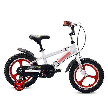 Bicicletas para niños Niñas 2-3-4-5-6 Años Pedales para Niños Bicicleta 12 14 16 Cochecito DE 18 Pulgadas Rueda De Radios Una Rueda Blanca: Amazon.es: ...