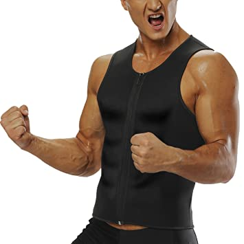 35bc1660b90882 Herren Abnehmen Sauna Shirt Männer Neopren Thermo Fitness Gym Hot Top Body  Shaper Weste Training T Shirt