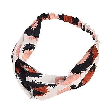 Pack 4 animal print hair elastics long headbands elastic bandeaux sports bands
