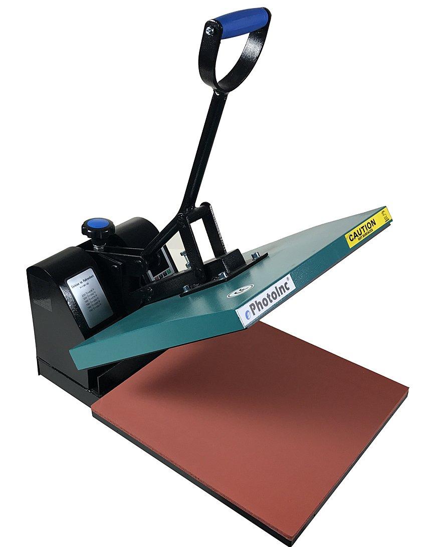 ePhotoInc 15 x 15 Digital Clamshell Heat Press Transfer T-Shirt Sublimation Press Machine EPH15G