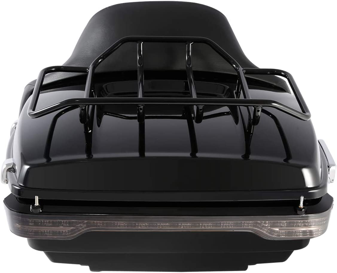 XFMT LED King Tour Pack Trunk Backrest Luggage Rack with Brake//Turn//Tail Light Fit For Harley Touring Tour Pak 2014-2019