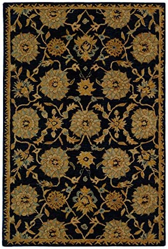 Safavieh Anatolia Collection AN537A Handmade Traditional Oriental Navy Wool Area Rug 3' x 5'