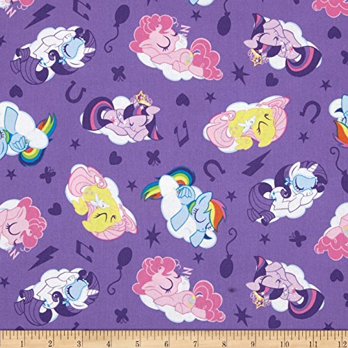 Springs Creative Products Hasbro My Little Sleeping Ponies Lavender Fabric by The Yard -