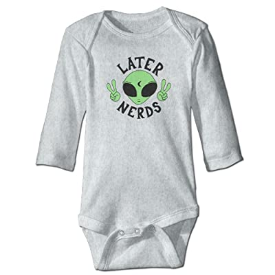 DecorMyGarden Later Nerds Funny Graphic Jumpsuit For Infant 0-24 Months