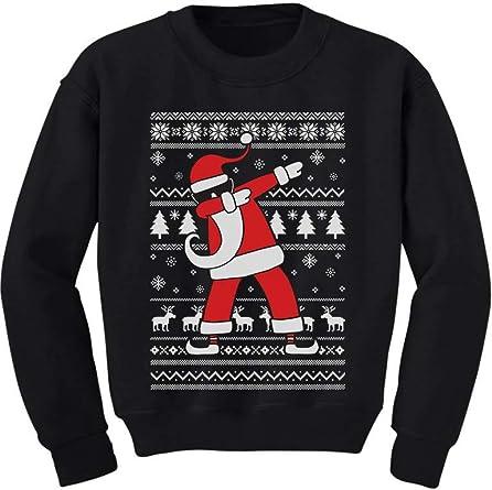 TeeStars Dabbing Santa Funny Ugly Christmas Party Youth Kids Sweatshirt