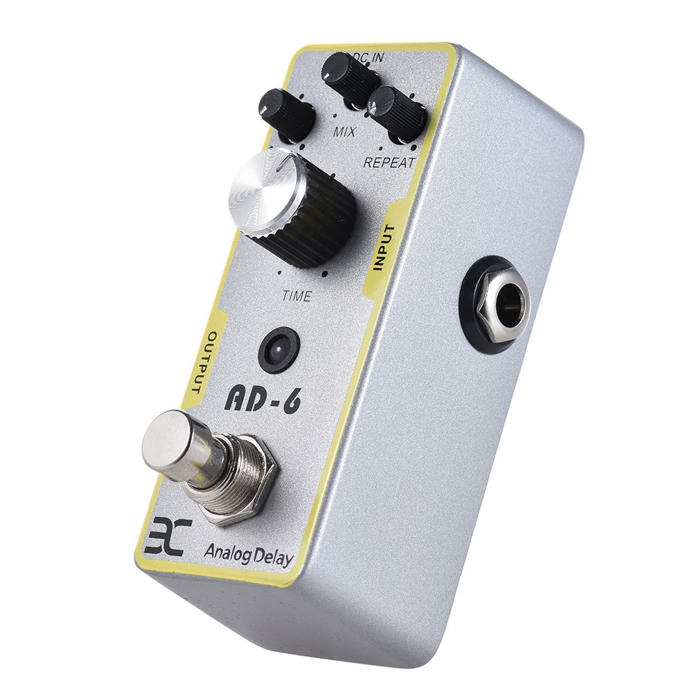 Walmeck Electric Guitar Effect Pedal Guitar Analog Delay Effect Pedal Guiatr Accessories True Bypass