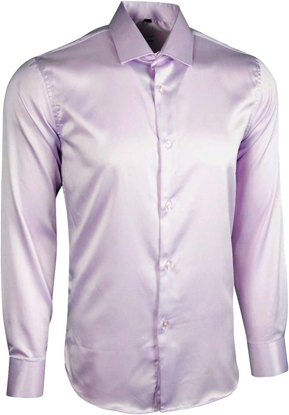 Dominic Stefano Mens Satin Shiny Silk Feel Smart Casual Dress Wedding Casual Shirt 422
