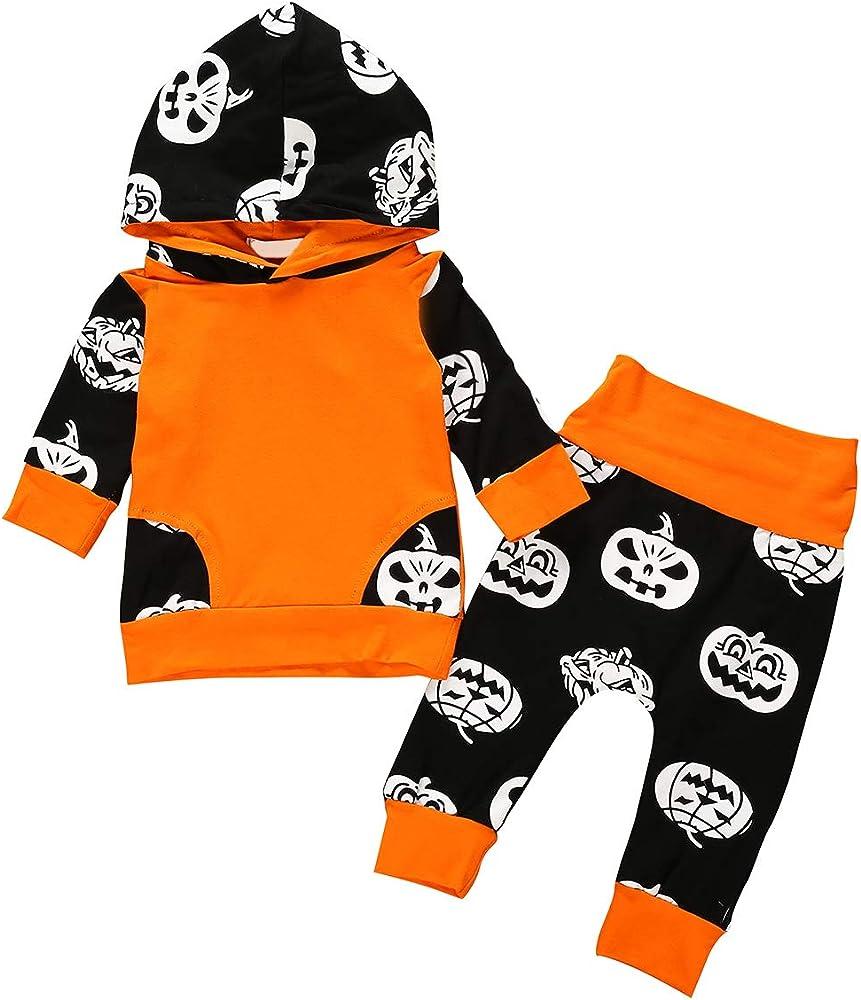 Borlai 2 piezas de ropa de Halloween para bebés, chándal para bebé ...