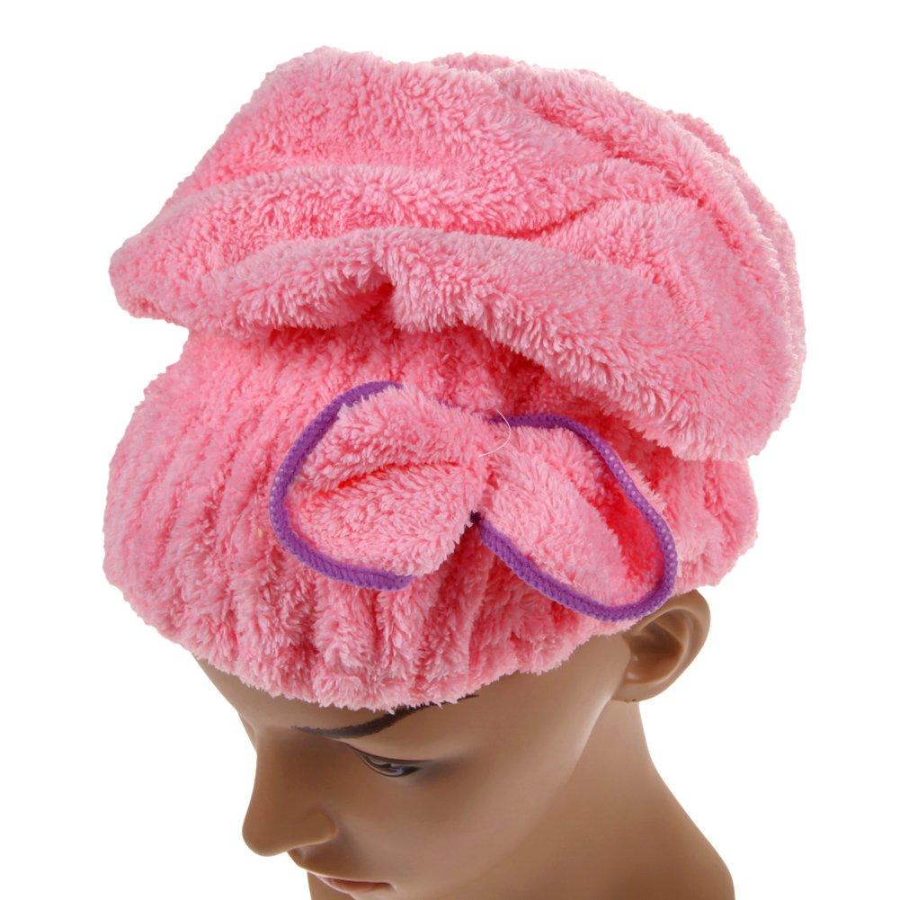 Broadroot Nützliches trockenes Haar Hut Mikrofaser Haar Turban schnell trocken Haar Hut gewickelt Handtuch Badekappe (06)