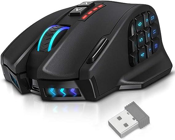UtechSmart VENUS Pro RGB MMO Wireless Gaming Mouse