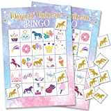 Magical Unicorn Bingo Game - 24 Players
