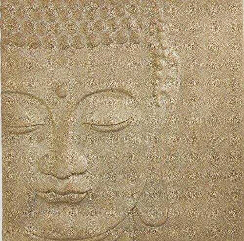 Arthouse, Gold 3D Glitter Buddha Wall Art Canvas, Boho Home Décor ()