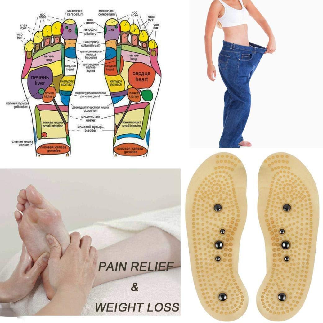 Fuß Magnetische Therapie Massage Einlegesohlen Schuh Pads for Männer Frauen//yh