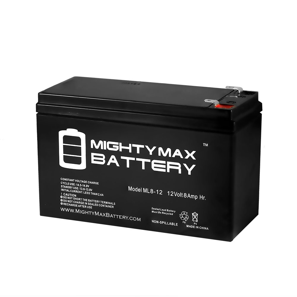 Mighty Max Battery 12V 8Ah SLA Battery for Avigo Extreme Electric Scooter brand product by Mighty Max Battery