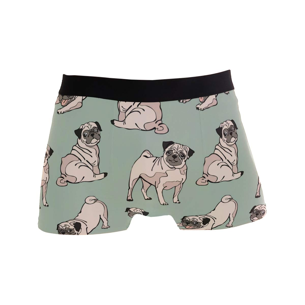 Mkuell French Bulldog Pug Comfortable Mens Boxer Briefs Multi-Size Soft Underwear S