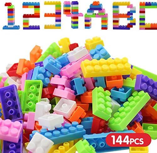 144pcs Plastic Building Blocks Bricks Children Kids  Educational Puzzle Toy