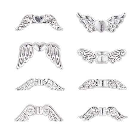 20pcs 22mm Charm Tibet Silver Angel Wing Beads Pendant Jewelry Craft DIY Making