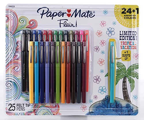 PaperMate Flair! 24+1 Assorted Colors Felt Tip Pens