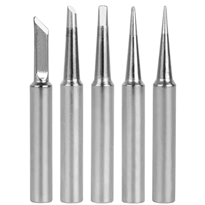 GeToo ST Series Soldering Tip for Weller WLC100, WP25, WP30, SP40L, SP40N and WP35 Irons Tips, Set of 5 Shapes