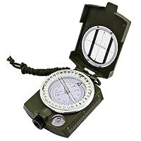 Bussola militare Glow in the Dark, DLAND portatile Pocket Watch flip-open bussola impermeabile per il campeggio, escursioni e altre attivit¨¤ all'aperto. (Golden)