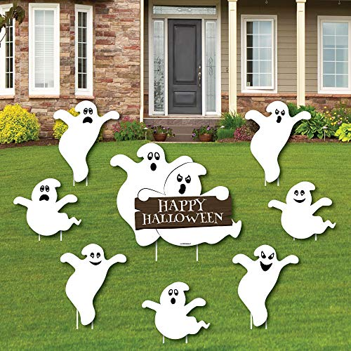 Spooky Ghost - Yard Sign & Outdoor Lawn Decorations - Halloween Party Yard Signs - Set of ()