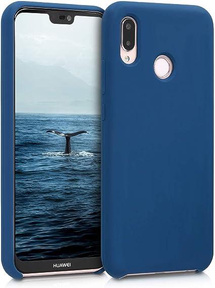 kwmobile Coque Compatible avec Huawei P20 Lite - Coque Étui Silicone - Housse de téléphone Bleu Marine