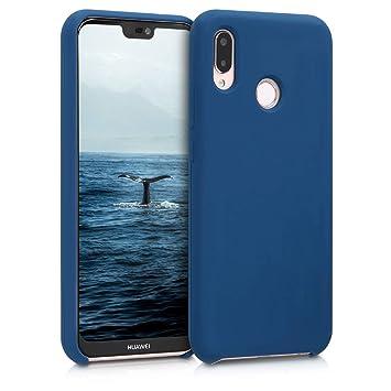 kwmobile Funda para Huawei P20 Lite - Carcasa de [TPU] para teléfono móvil - Cover [Trasero] en [Azul Marino]