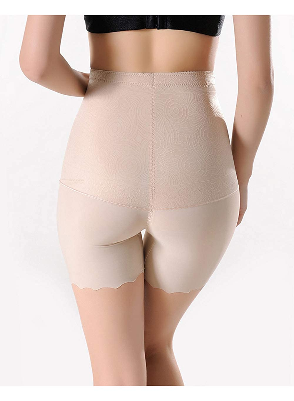 Fadfed 2Pcs Womens High Waist Anti-Light Aafety Pants Smooth Slip Short Shaper Slimmer Undershorts