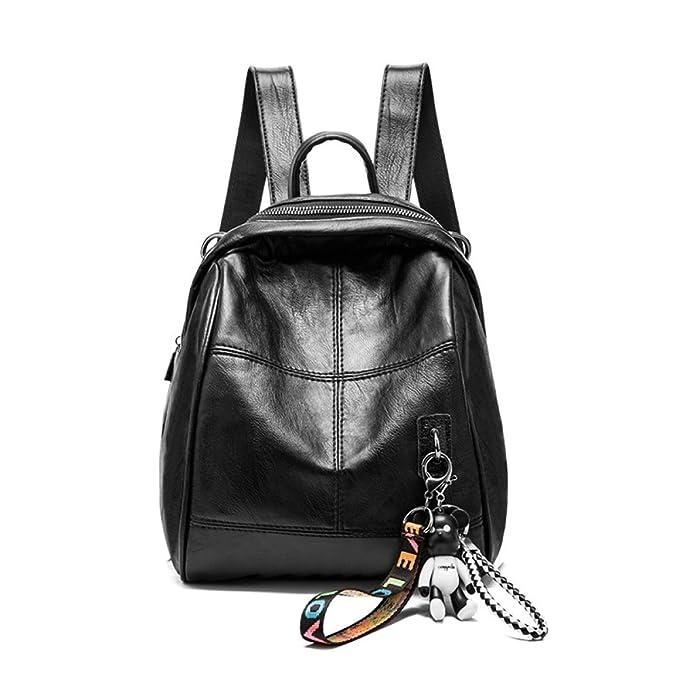 3e95525e112935 Zaini Moda Donna Zaini In Morbida Pelle Tote Bag Di Grande Capacità Moda  Casual,Black-22*14*27cm: Amazon.it: Abbigliamento