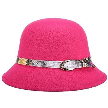 kyprx Sombreros de Sol para Mujer Sombrero de Copa Sun Bowler para ...