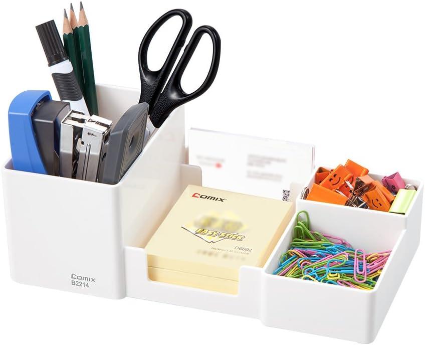Amazon.com: Comix 6 Components Desk Organizer,Office Desktop Organizer,White  Desk Organizer(B2214 White): Home Improvement