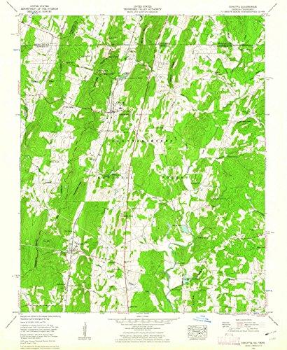Georgia Maps | 1960 Cohutta, GA USGS Historical Topographic Map |Fine Art Cartography Reproduction Print (Cohutta Ga)