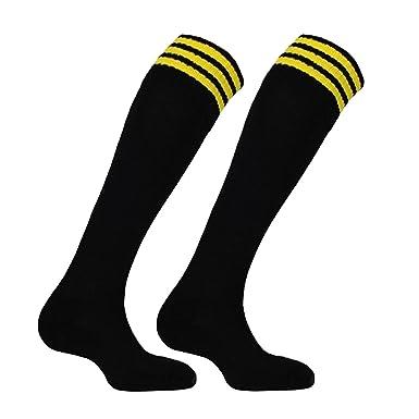 f9be9de84 Samson Hosiery ® Football Knee High Black Yellow Striped Socks Hockey Rugby  Basketball Gym Stripe Unisex Mens Womens (Large 6-11)  Amazon.co.uk   Clothing