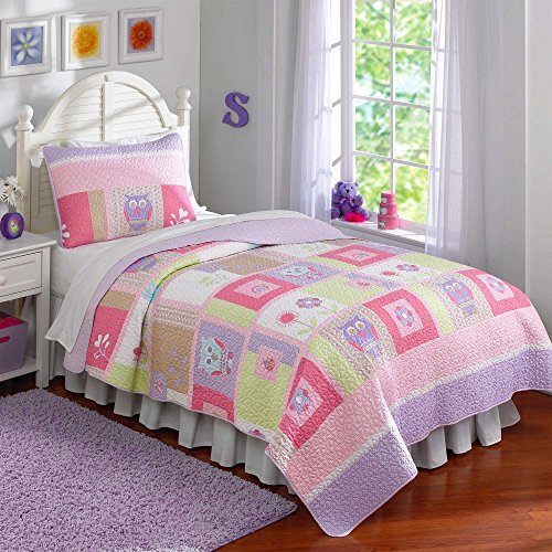 - Pem America, Ballet Lesson Collection, Twin 2-Piece Quilt Set, Pink