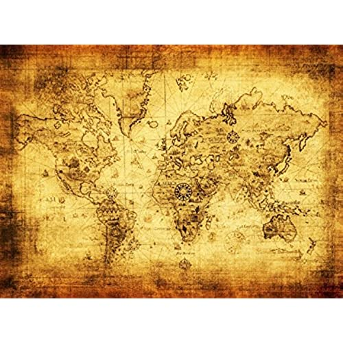 Vintage Posters World Map Amazoncom - Retro world map poster