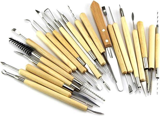 Kit de cer/ámica de arcilla Modelado de escultura para raspador de escu 10 piezas Juego de herramientas de arcilla para esculturas de madera Herramienta de arcilla Herramientas de cer/ámica de arcilla