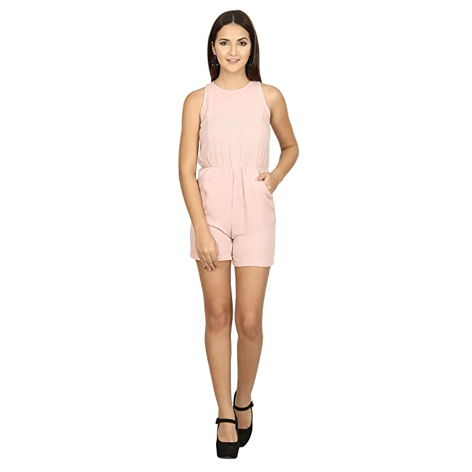 huge selection of clearance sale catch Trend Arrest Women's Viscose Solid Peach Playsuit: Amazon.in ...