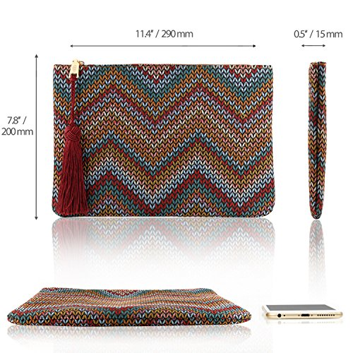 Smartphone Slim Wave Multiple Women��s Slots Clutch Ultra Otto Designer Purse Money Cards Bohemian Fpw4qz